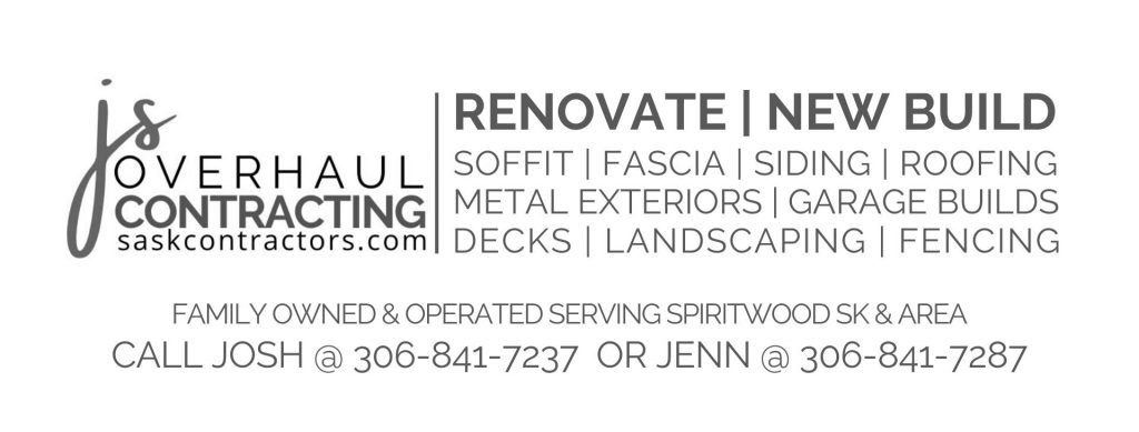JS Overhaul Contracting Services And Contact information Saskatchewan based contractor serving Spiritwood and area for renovations and new builds garages fences, landscaping, soffit, fascia, roofing, metal exterior, siding, decks etc