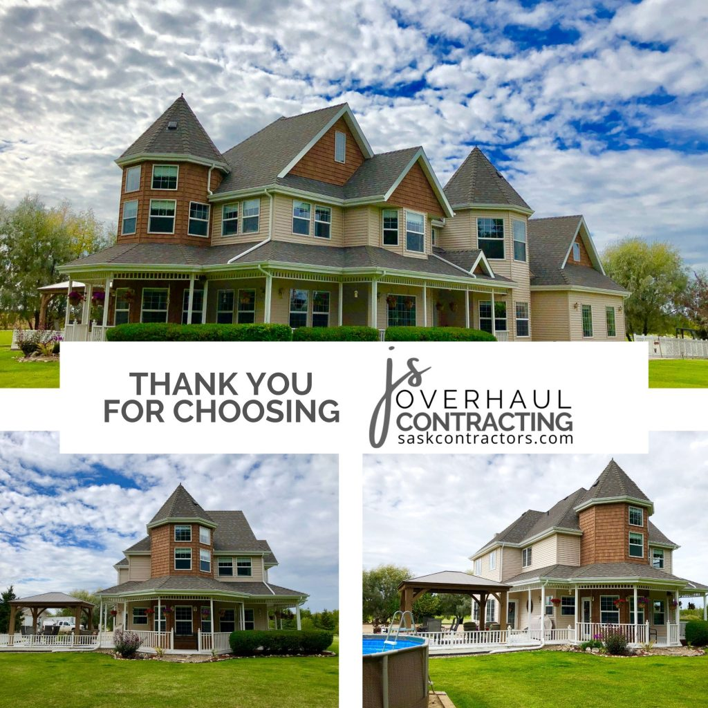 Specialty siding by JS Overhaul Contracting Turret Project